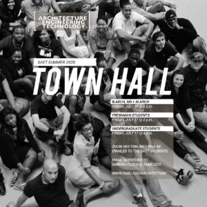 SAET Town Hall Summer 2020 @ Via Zoom
